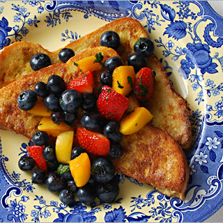 French Toast with Fruit & Mint