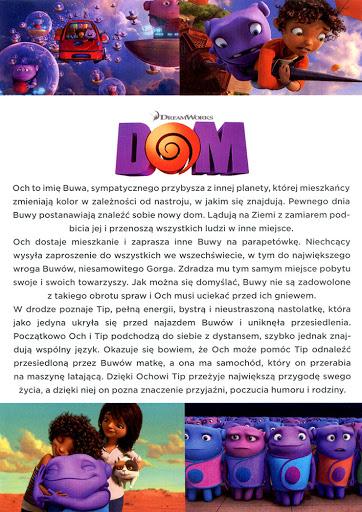 Tył ulotki filmu 'Dom'