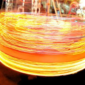 Slow shutter by Kartik Wat - Artistic Objects Other Objects ( merigo round, light painting, amusement park, aduro pictor, slow shutter )
