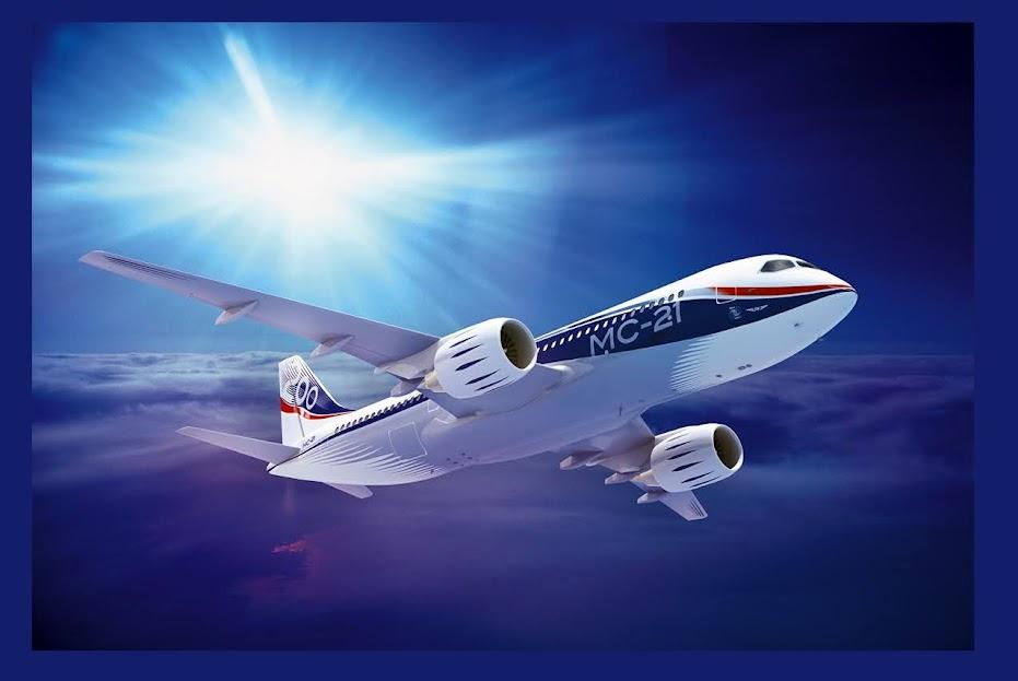 Гражданский узкофюзеляжный самолет МС-21 компании «Иркут»