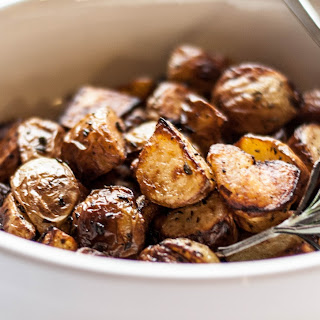Potatoes Roasted with Rosemary and Balsamic Vinegar.