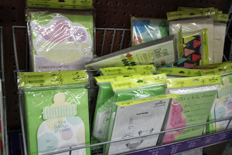 Photo: Then we headed to the card section. Wal Mart carries a ton of Hallmark cards including invitations.