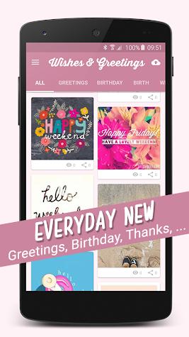 Birthday Congratulations Wishes & Greetings Screenshot