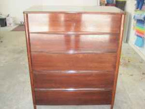 Photo: MID-MOD 5-DRAWER CHEST: SOLD