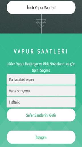 İzmir Vapur Saatleri
