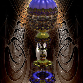 Casino Royale by Rick Eskridge - Illustration Sci Fi & Fantasy ( fantasy, jwildfire, mb3d, fractal, twisted brush )