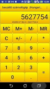 beszélő számológép - náhled