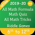 All Math Formula, Math Quiz, All Math Tricks icon