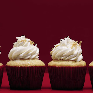 Vanilla Bean-Coconut Cupcakes with Coconut Frosting