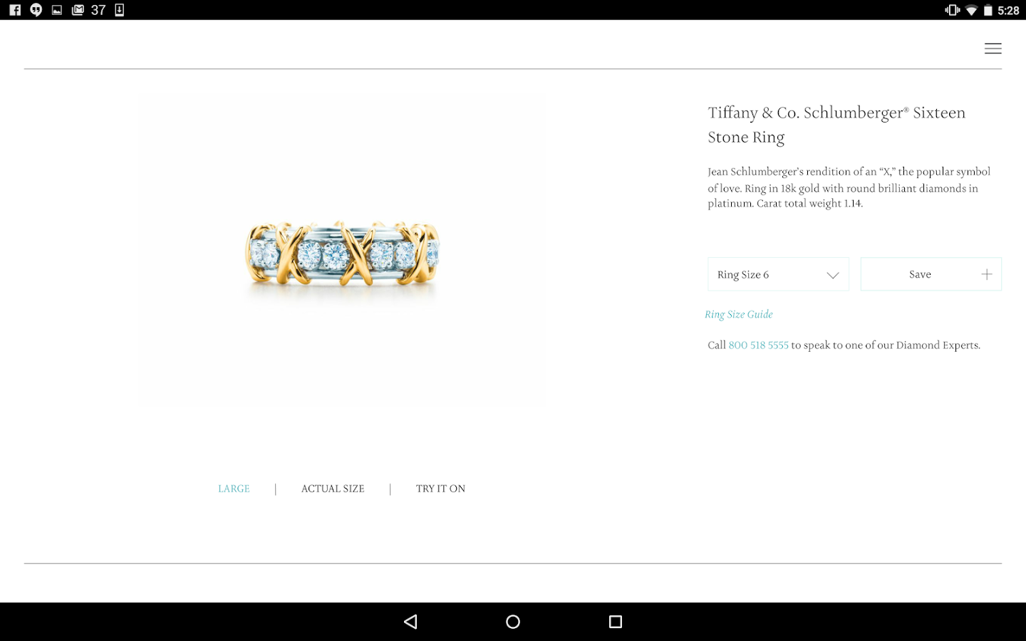 Tiffany Engagement Ring Finder- screenshot