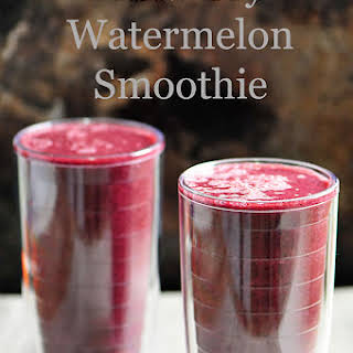 Blueberry Watermelon Smoothie.