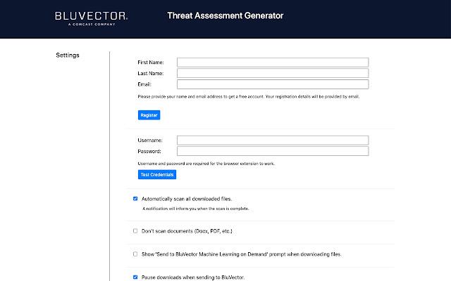 BluVector Threat Assessment Generator