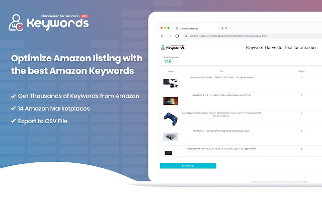Amazon Keyword Harvester PRO and Reverse ASIN