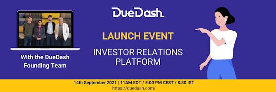DueDash Investor Relations Platform Launch