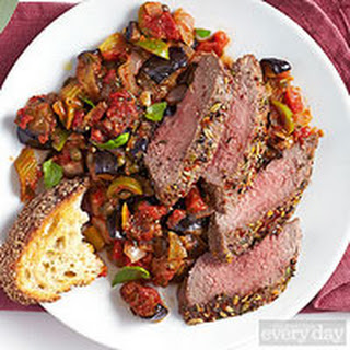 Lamb Loin with Caponata