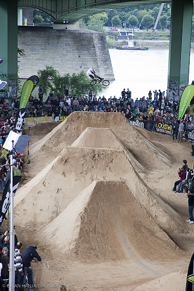 Photo: July the 11th 2009, Koln Germany, During the IBMXF world championship, Day 2 depite the rain, riders are going to try to get in the final.