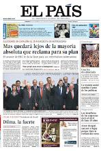 Photo: Mas quedará lejos de la mayoría absoluta, según el sondeo de Metroscopia, un amplio retrato de de Dilma Rousseff por Juan Luis Cebrián y las cartas que los republicanos españoles escribieron para pedir asilo en México, en la portada del 18 de noviembre: http://srv00.epimg.net/pdf/elpais/1aPagina/2012/11/ep-20121118.pdf