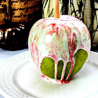 White Chocolate Cotton Candy Apples.