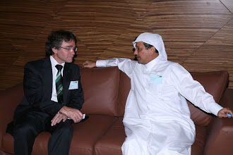 Photo: From left: Bert Kips, Managing Director IHC Beaver Dredgers; Najeb khalifa Alsada Assistant Deputy Chief Executive Shipping & Transport Affairs, Qatar Navigation, Qatar