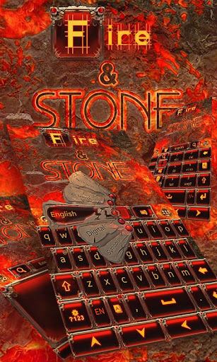 Fire Stone GO Keyboard Theme