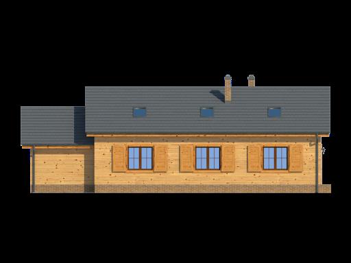 Chmielów z garażem mx - Elewacja tylna
