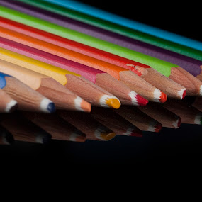 Colors by Cristobal Garciaferro Rubio - Artistic Objects Still Life ( pencil, wood, wood pencil, colors, color pencil )