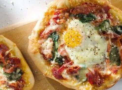 Applewood Smoked Bacon And Egg Breakfast Pizza Recipe