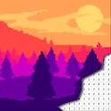 Landscape Coloring By Number - Pixel Art icon