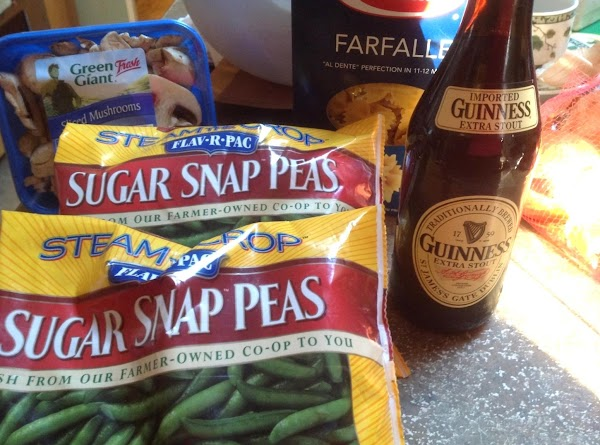 In the mean time cook the frozen or fresh sugar snap peas according to...