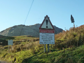 Photo: The foot of the Wrynose Pass...you have been warned ! If you are faint hearted turn around now !