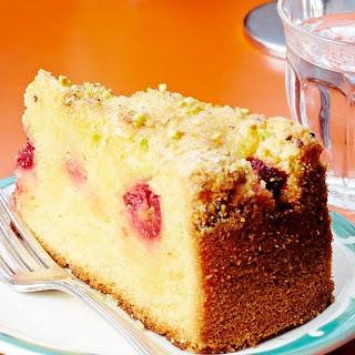 Lemon Cake with Raspberries and Pistachios Recipe