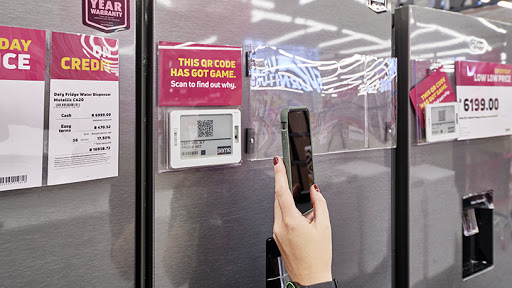 The QR code scanners allow customers to check product prices.