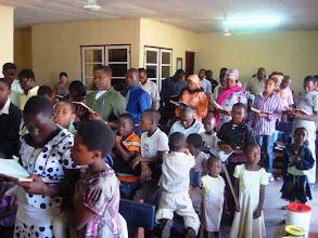 Photo: Singging at Faith Baptist Church in Bamenda