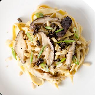 Healthy Mushroom Fettuccine Alfredo