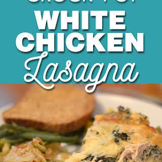 Crock Pot White Chicken Lasagna.
