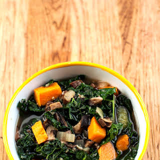 Kale and Sweet Potato Soup.
