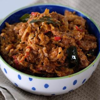 Sardine Peratal (Dry Sardine Curry).