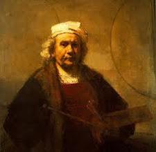 Foto: Rembrandt Harmenszoon van Rijn (Leiden, 15 juli 1606 of 1607[1] – Amsterdam, 4 oktober 1669) was een Nederlands kunstschilder; hij wordt beschouwd als een van de belangrijkste Hollandse meesters van de 17e eeuw. Rembrandt vervaardigde in totaal ongeveer driehonderd schilderijen, driehonderd etsen en tweeduizend tekeningen. Zijn werk behoort tot de Barok en hij is zichtbaar beïnvloed door het Caravaggisme, alhoewel hij nooit naar Italië is geweest. Zijn opmerkelijke beheersing van het spel met licht en donker, waarbij hij vaak scherpe contrasten (clair-obscur) neerzette om zo de toeschouwer de voorstelling binnen te leiden, leidde tot levendige scènes vol dramatiek. Rembrandt beschouwde zichzelf vooral als een historie- en portretschilder. Hij was een zelfverzekerde man[2] die in alle levensfasen door iedereen bewonderde zelfportretten maakte. Zijn honderd geschilderde en twintig geëtste zelfportretten geven een opmerkelijk scherp beeld van zijn uiterlijk en zijn gevoelens. Behalve zijn vrouw Saskia van Uylenburgh, en zijn zoon Titus van Rijn zijn ook zijn huishoudsters, vriendinnen Geertje Dircx en Hendrickje Stoffels nadrukkelijk in zijn schilderijen aanwezig en hebben gefungeerd als model voor bijbelse, mythologische of historische figuren.