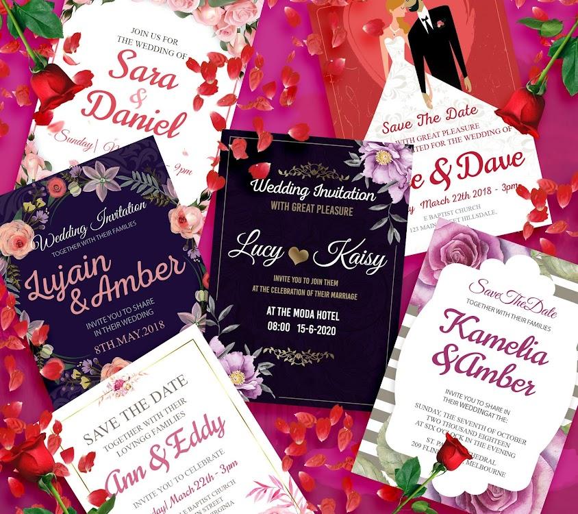 Wedding Invitation Card Maker Creator Rsvp Android