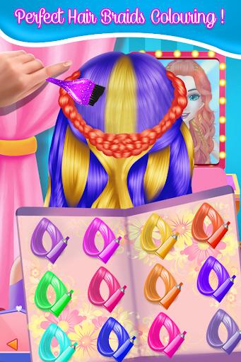 Fashion Braid Hairstyles Salon-girls games screenshots 2