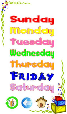 Learn days of week and months - screenshot