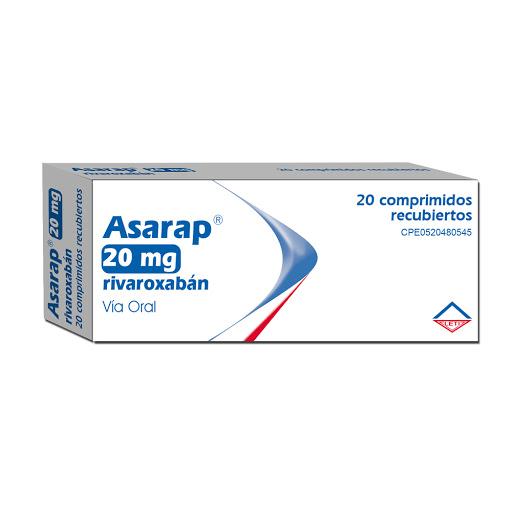 Rivaroxaban Asarap 20Mg 20Comprimidos Leti