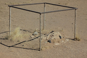 Photo: The remains of one of the legs of the platform tower.