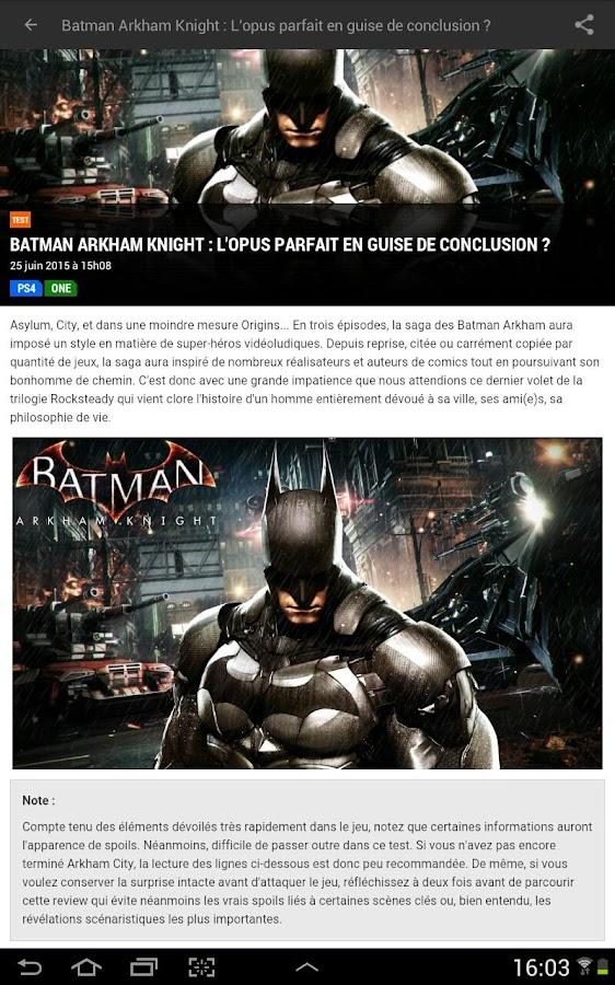 Jeuxvideo.com - PC et Consoles - screenshot