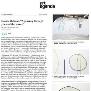 Davide Balula, art agenda, 2015