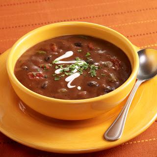 Costa Rican Black Bean Soup (Sopa Negra).