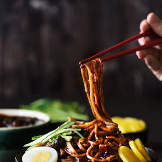 Korean Black Bean Noodles.