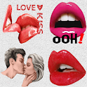 Lips and love Stickers 2021 - WAStickerApps icon