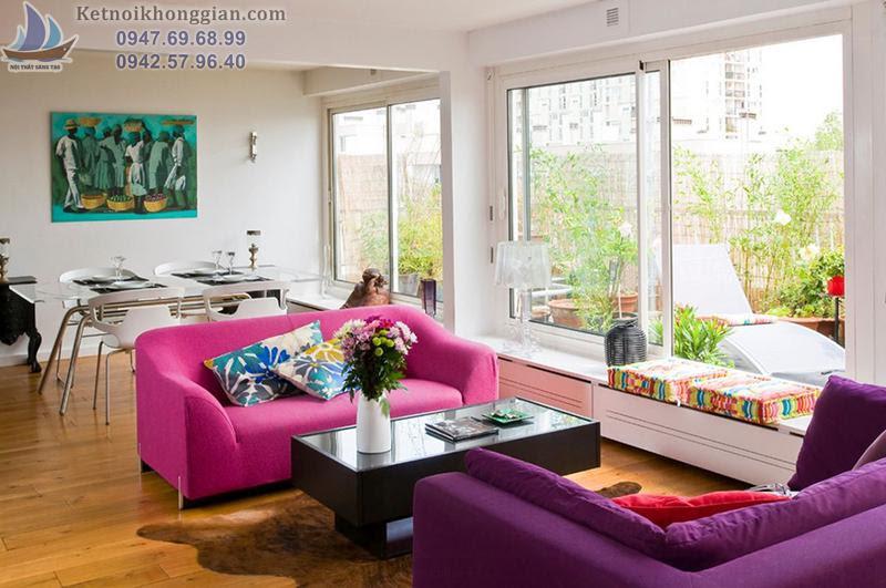 thiết kế nội thất phòng khách có hiệu ứng giá trị