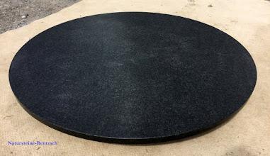 gartentischplatte granitplatte antik schwarz naturstein d120cm nero assoluto neu. Black Bedroom Furniture Sets. Home Design Ideas